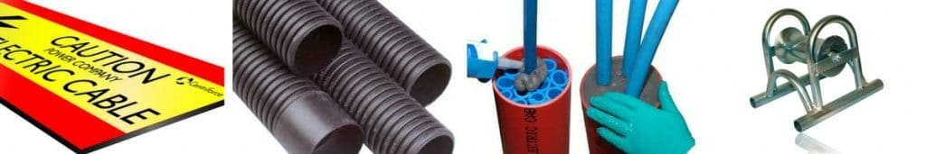 Cable Laying – Underground Cable Covers, Ducting, Seals & Cable Pulling Equipment