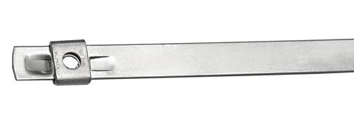 16.5 Length BAND-IT AS2129 Tie-Lok 304 Stainless Steel Cable Tie 1//4 Width 100 per Bag 4 Maximum Diameter