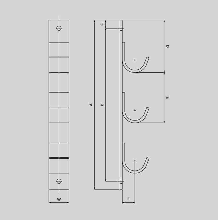 Cable Hangers - Galvanised Steel Cable Hanging Systems (LV MV HV Cable) - Dimensions