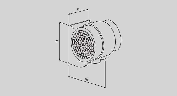 Ellis Patents Elite Cable Clamps & Straps 9.5-52mm – Plastic LSF Low Smoke Fume - Dimensions