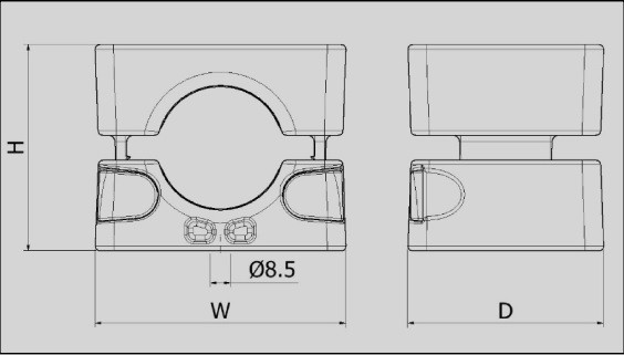 Ellis Patents No Bolts Cable Cleats - Dimensions