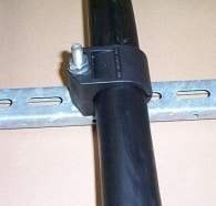 Locate the other half of the cable clamp