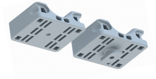 The cleat can be supplied with an M8 through hole fixing option or channel twist fit feature
