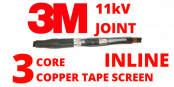 3M 92-AV610-3/C 11kV 3 Core XLPE 50-120sqmm Cold Shrink Cable Joints