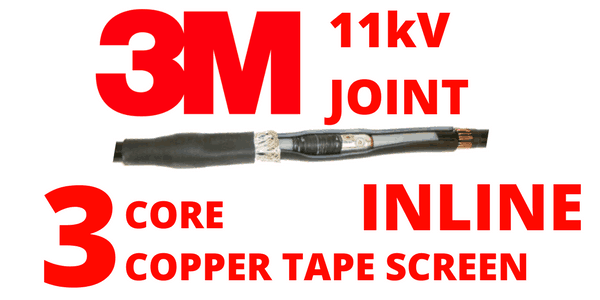 11kV 3 Core Copper Tape Screen Cold Shrink Inline Cable Joints – 3M QS1000 92-AV6x0-3C
