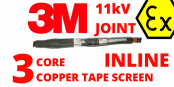 3M 92-AV612-3/C 11kV 3 Core XLPE 70-95sqmm Hazardous Area Cable Joints
