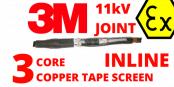 3M 92-AV622-3/C 11kV 3 Core XLPE 120-185sqmm Hazardous Area Cable Joints