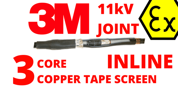 11kV Hazardous Area 3 Core XLPE EPR Cold Shrink Cable Joints – 3M QS1000 92-AV6x2-3/C
