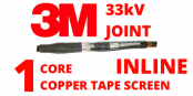 33kV Single Core XLPE Copper Tape Screen Cold Shrink Cable Joints – 3M QS2000 94-AP63x-1/C