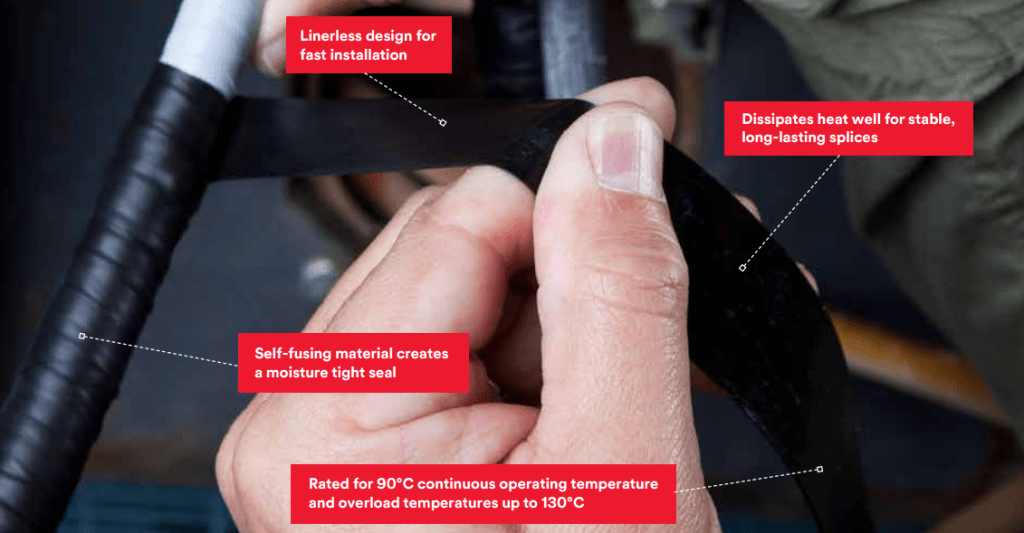 3M Scotch 130C Rubber Splicing & Cable Jointing Tape – insulate, seal and splice MV-HV cables, busbars, motor leads and connections