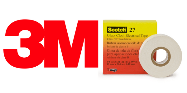 3M Scotch 27 Tape - General Purpose Glass Cloth To 130 Degrees Celsius