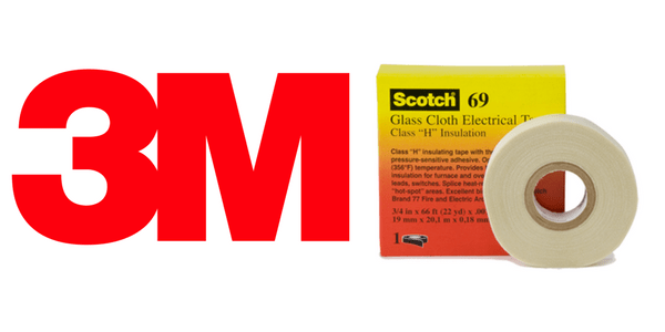 3M Scotch 69 Tape - Premium Glass Cloth To 200 Degrees Celsius