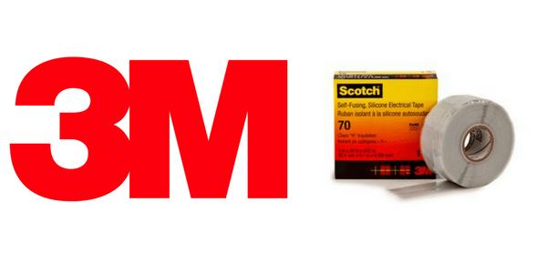 3M Scotch 70 Tape - Arc Resistant High Temperature Self Amalgamating Tapes