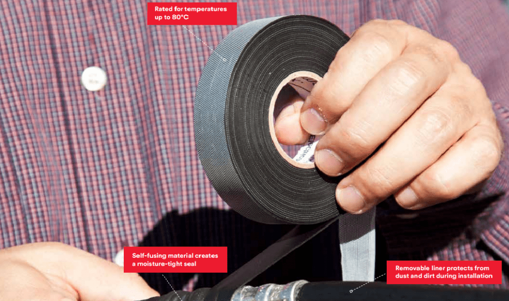 3M Temflex Rubber Splicing Tape - insulate cables and seal against moisture ingress into LV connections and cables