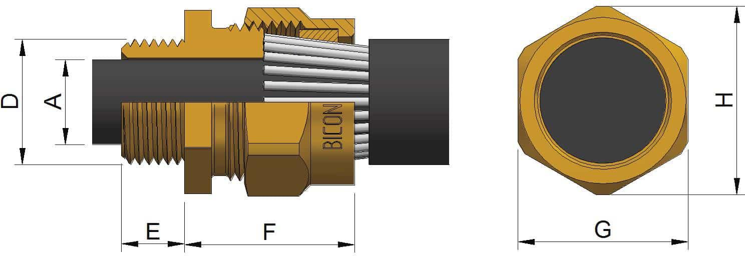 BWL Brass Cable Gland Kits – Prysmian Bicon KJ417 Glands