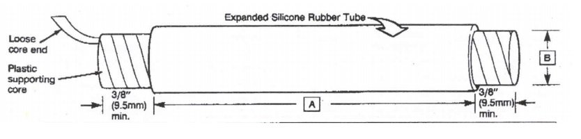 Cold Shrink Silicone Tubes - 3M 8440 Series