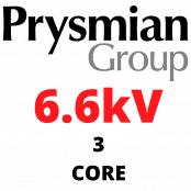 6.6kV MV Cables BS6622/BS7835 – 3 Core XLPE SWA Stranded Copper