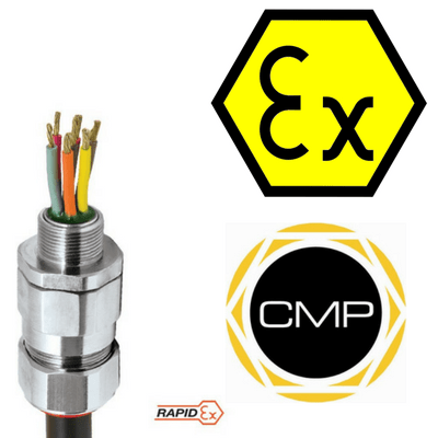 CMP PX2KPBREX Barrier Glands – IECEx & ATEX Hazardous Area Cable Gland Ex e, Ex d, Ex nR, Ex ta