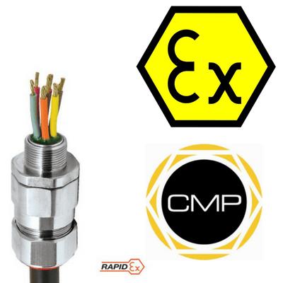 CMP PX2KPBREX Barrier Glands – IECEx & ATEX Hazardous Area Cable Gland Ex e, Ex d, Ex nR, Ex ta