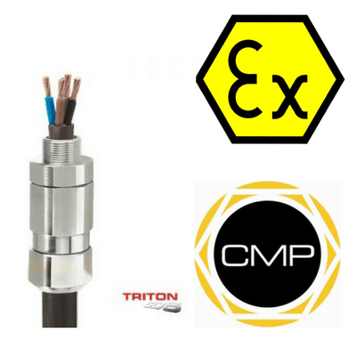CMP Triton Cable Gland CDS (T3CDS) - Ex e, Ex d, Ex nR & Ex ta Hazardous Area ATEX Zone 2