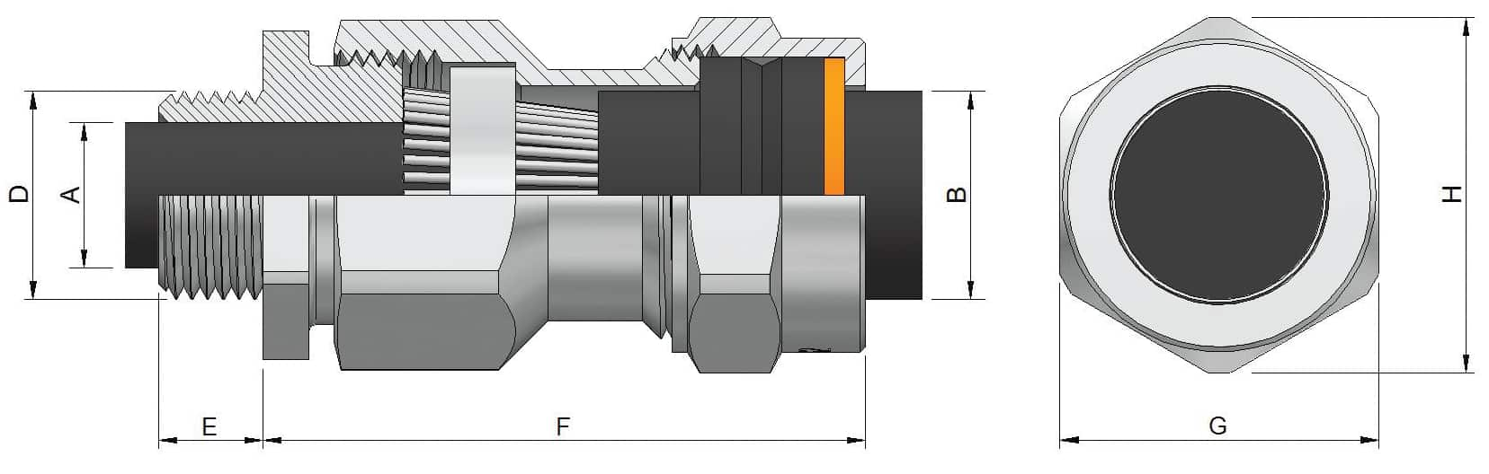 Aluminium Cable Glands Prysmian Bicon Ka422 Cw Wiring Armoured Gland Kits Awa Wire