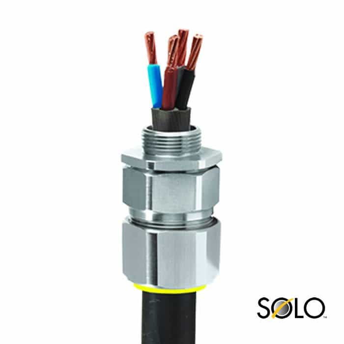 Armoured Cable Glands : Cw solo cable glands steel aluminium wire armoured