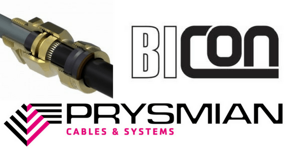 E1W Brass Cable Gland Kits – Prysmian Bicon KAA413 Glands (Weatherproof Armoured Cable Terminations)