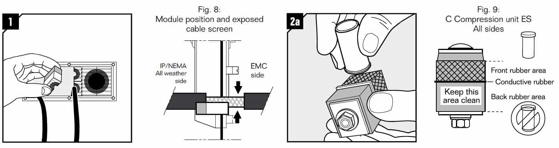 Roxtec CF 8/32 EMC Cable Transit Frame