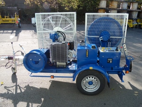 Telecoms Cable Winch For Fibre Optic Cables & Sub Duct Pulling (1 Tonne) - SEB AW1000