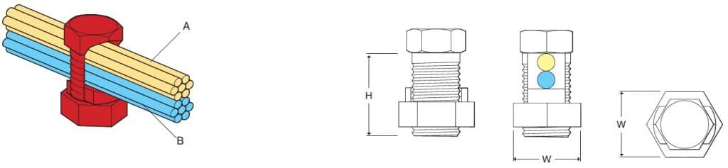 Split Bolt Connectors Dimensions