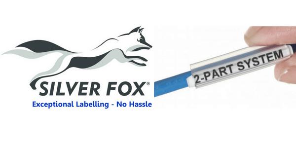 2 Part Cable Labels (Polypropylene) – Silver Fox Legend