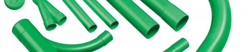 Cable TV Duct - Green Cable Ducting