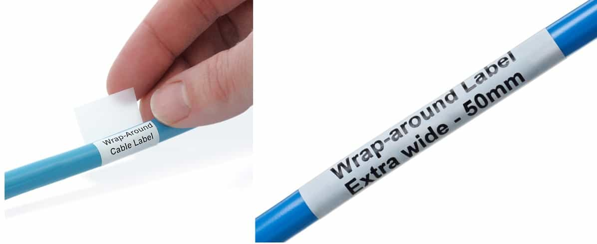 Extra Wide Wrap Around Laser Cable Labels