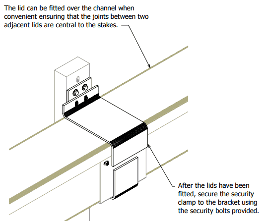 GRC Cable Trough - Installation