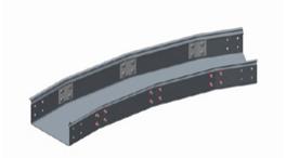 GRP Trough 30 Degree Flat Bend