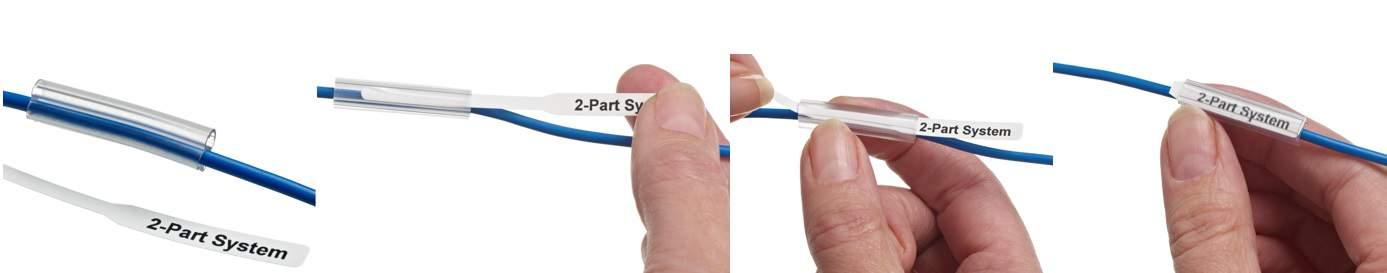 Inserting, Pulling and Tearing Off The Tail Of The Cable Label