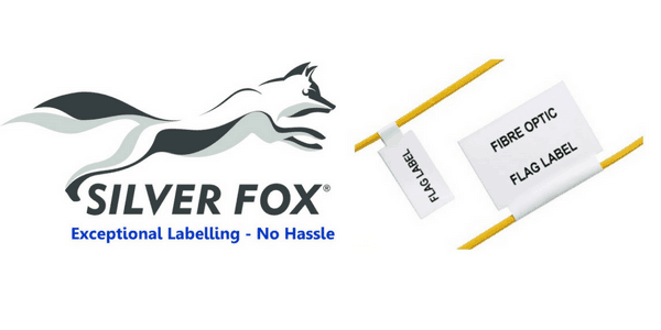 Self Adhesive Cable Labels (Optical Fibre Flag) – Silver Fox Prolab