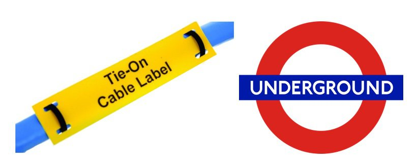 Tie-on Cable Labels - London Underground Approved