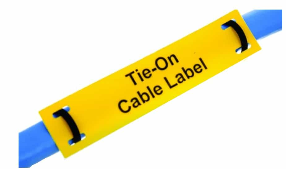 Tie On Cable Labels Polyester Laser Printable Silver