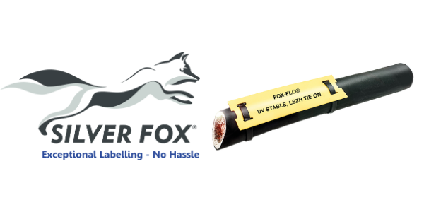Tie-on LS0H Cable Labels (Heat Shrink) – Silver Fox Fox-Flo