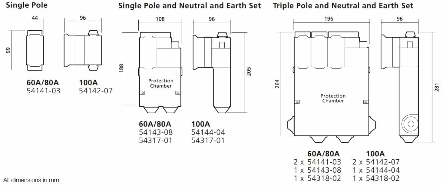 WT Henley Series 6 House Service Cutout Dimensions