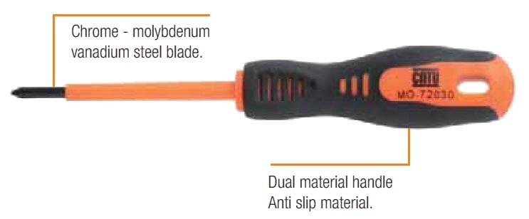 CATU Insulated Screwdrivers - Phillips IEC 60900