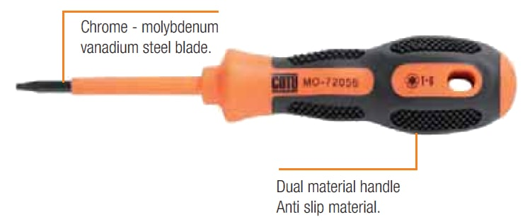 CATU Insulated Screwdrivers - Torx IEC 60900