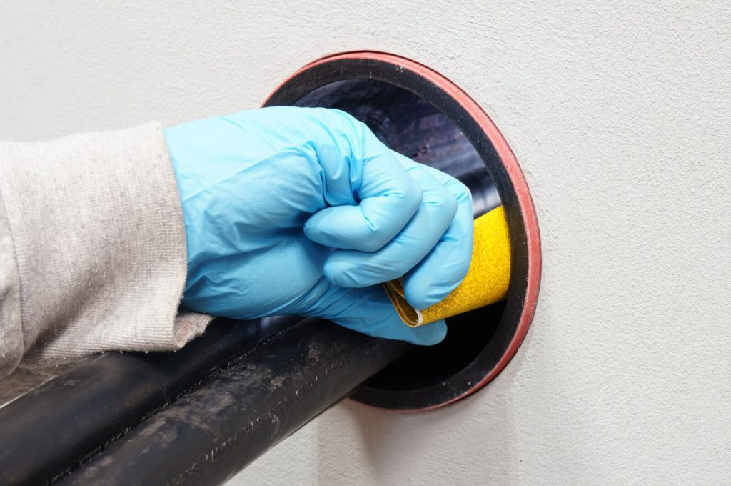 Duct Sealing - Sanding