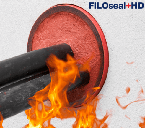 Fire Resistant Cable Duct Seals Sealing - Filoform FiloSeal+HD FIRE