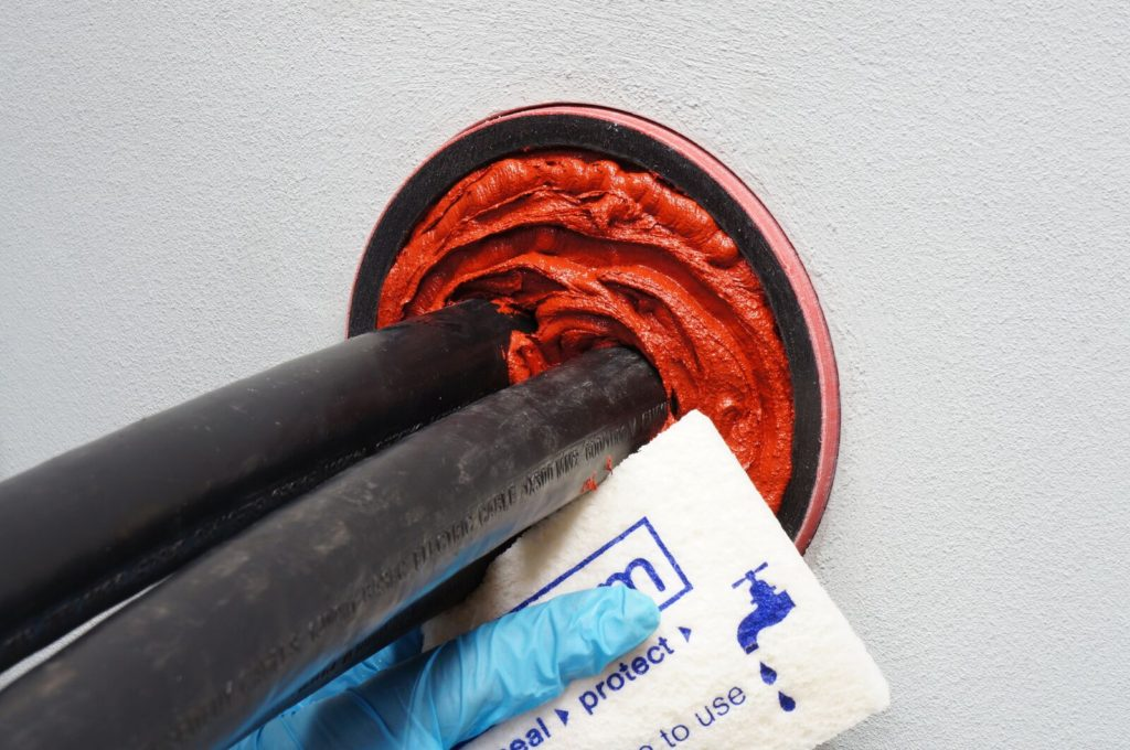 Sealing Cable Ducts - Sponge