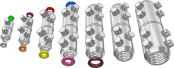 Sicame EUMF0, 1, 2, 2.5, 3, 8 & 9 LV / MV Mains Straight Connectors
