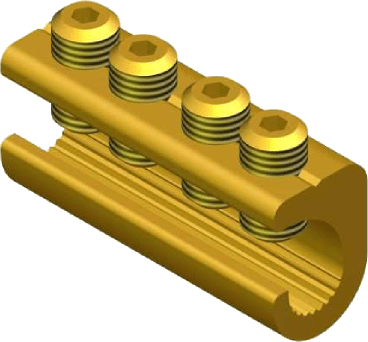 Sicame MF19/1 Brass (Side Entry) LV Service Straight Connectors