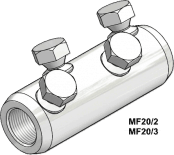 Sicame MF20/1, 2, 3, 4 & 5 LV / MV Mains Straight Connectors
