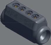 Sicame MF4-23/I Hybrid LV Service Straight Pre-Insulated Connector
